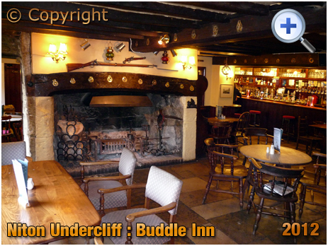 Isle of Wight : Interior of the Buddle Inn at Niton Undercliff [2012]