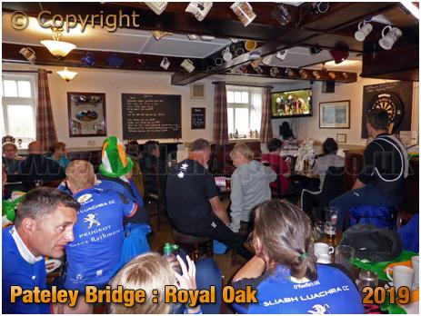 Pateley Bridge : Cycling Fans inside the Royal Oak [September 2019]
