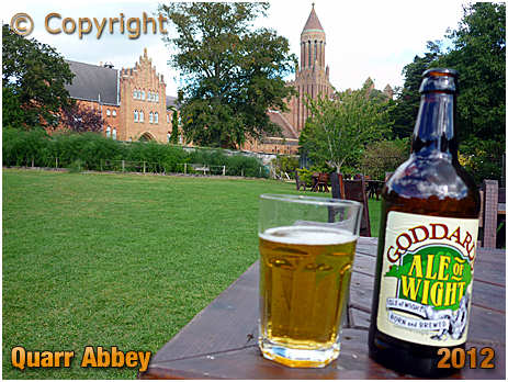 Isle of Wight : Goddard's Ale of Wight Beer at Quarr Abbey [2012]