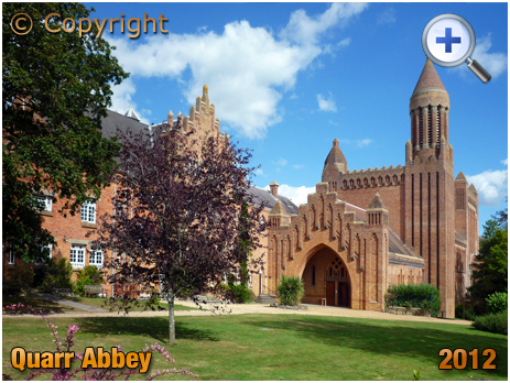 Isle of Wight : Quarr Abbey near Fishbourne and Binstead [2012]