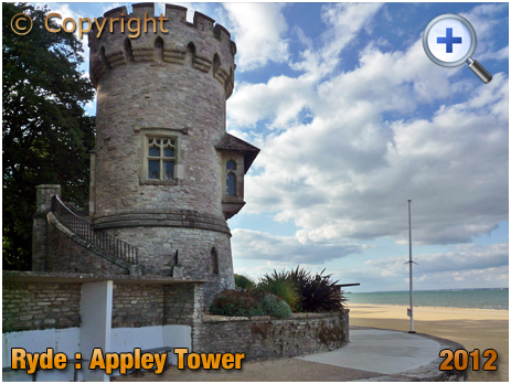 Isle of Wight : Appley Tower at Ryde East Sands [2012]
