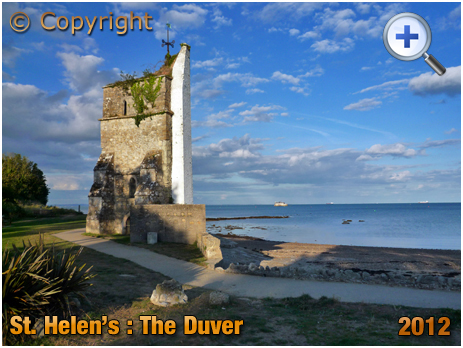 Isle of Wight : Church Tower at The Duver at St. Helen's [2012]