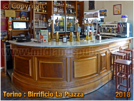 Torino : Bar of Birrificio La Piazza at Via dei Mille [2018]
