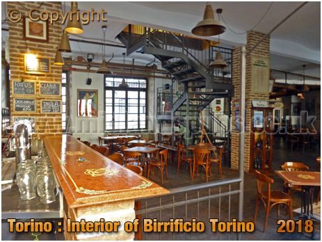 Torino : Interior of Birrificio Torinoat at Via Parma 30 [2018]