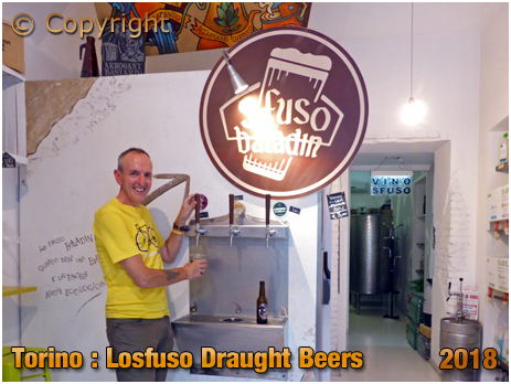 Torino : Draught Beers at Lo Sfuso at Via Pastrengo 3 [2018]