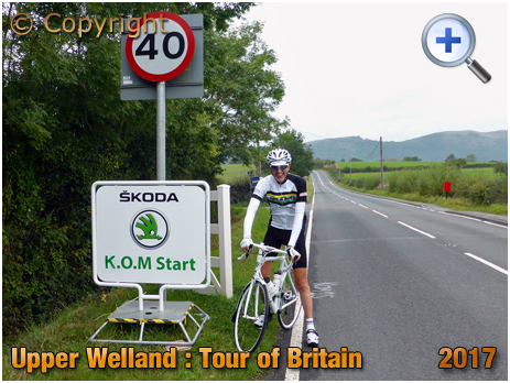 Upper Welland : Start Line for Tour of Britain King of the Mountains on Malvern [2017]