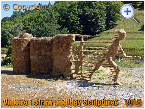 Valloire : Straw and Hay Sculpture [2018]