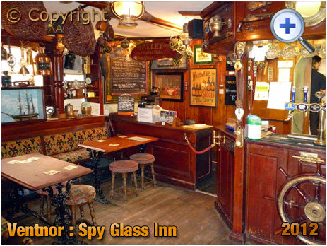 Isle of Wight : Artefacts inside the Spy Glass Inn at Ventnor [2012]