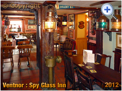 Isle of Wight : Interior of The Spy Glass Inn at Ventnor [2012]