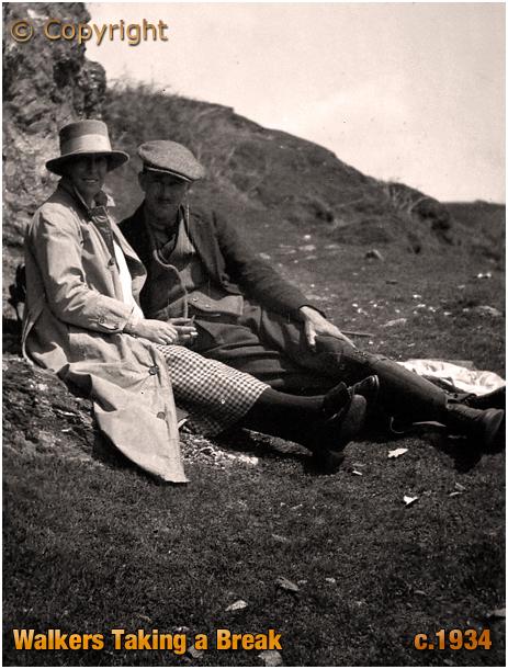 Walkers taking a break [c.1934]
