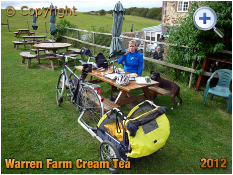 Alum Bay : Cream Tea at Warren Farm near The Needles [2012]