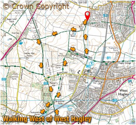 Walking West of West Hagley [April 2021]