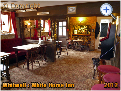 Isle of Wight : Interior of the White Horse Inn at Whitwell [2012]