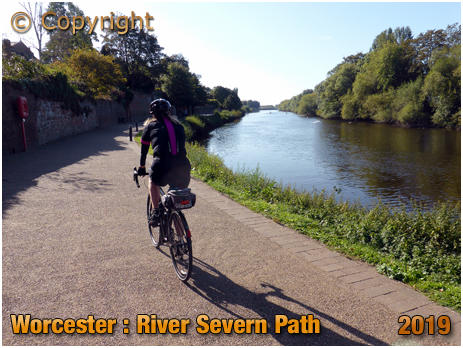 Worcester : Cycling along the River Severn [September 2019]