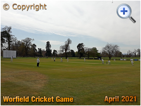 Worfield : Cricket First Eleven in action against Newport Cricket Club [2021]