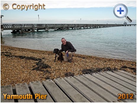 Isle of Wight : Tourist, Dog and Yarmouth Pier [2012]