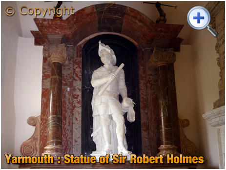 Isle of Wight : Statue of Sir Robert Holmes in the Church of Saint James at Yarmouth [2012]