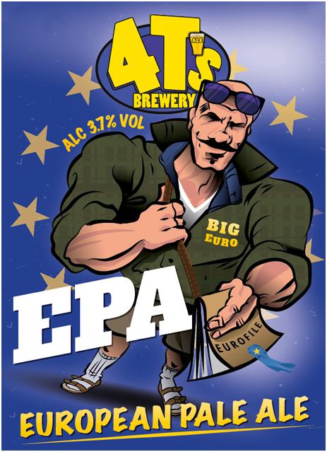 Pump Clip of 4T's European Ale Ale