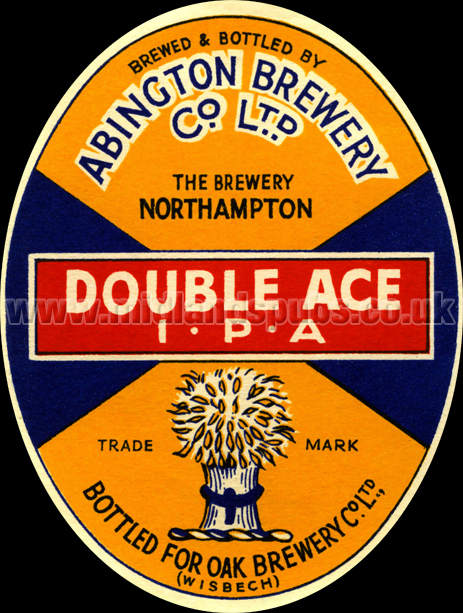 Abington Brewery Co. Ltd. Double Ace India Pale Ale Beer Label