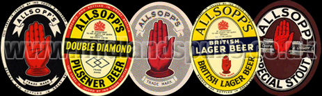 Allsopp's Beer Bottle Labels