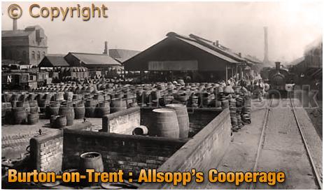 Burton-on-Trent :s Allsopp's Brewery Cooperage [c.1905]