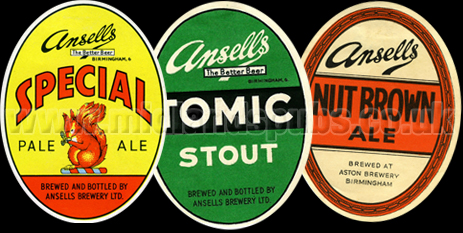 Ansell's Beer Bottle Labels