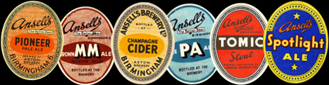 Ansell's Beer Labels