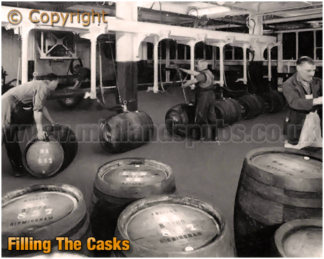 Filling The Casks at Ansell's Brewery