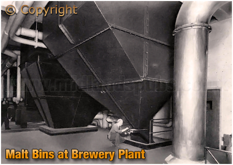 Ansell's Brewery Malt Bins