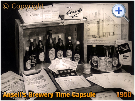 Time Capsule buried by Ansell's Brewery Limited at Aston in Birmingham [1950]