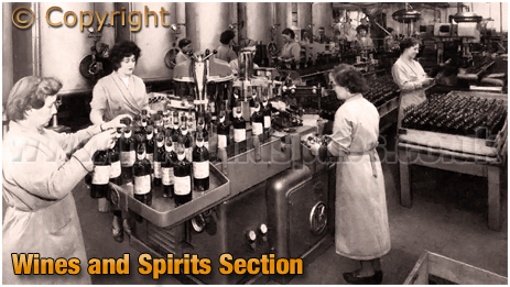 Ansell's Brewery Wines and Spirits Section