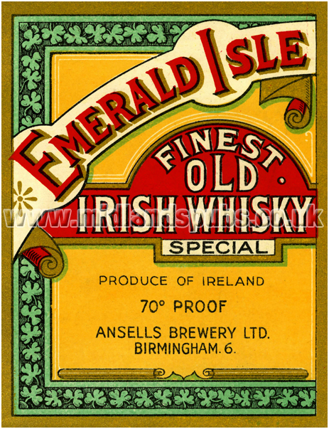 Ansell's Emerald Isle Finest Old Irish Whiskey