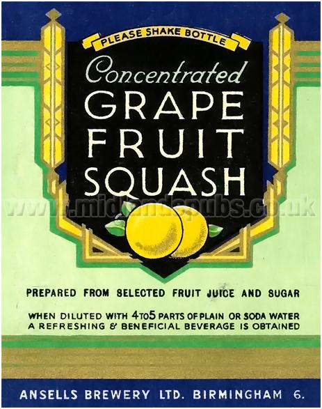 Ansell's Grapefruit Squash