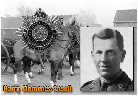 Harry Clements Ansell : Royal Army Service Corps