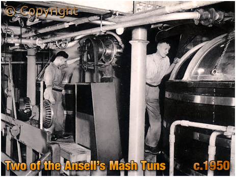 Two of the old Mash Tuns at Ansell's Brewery