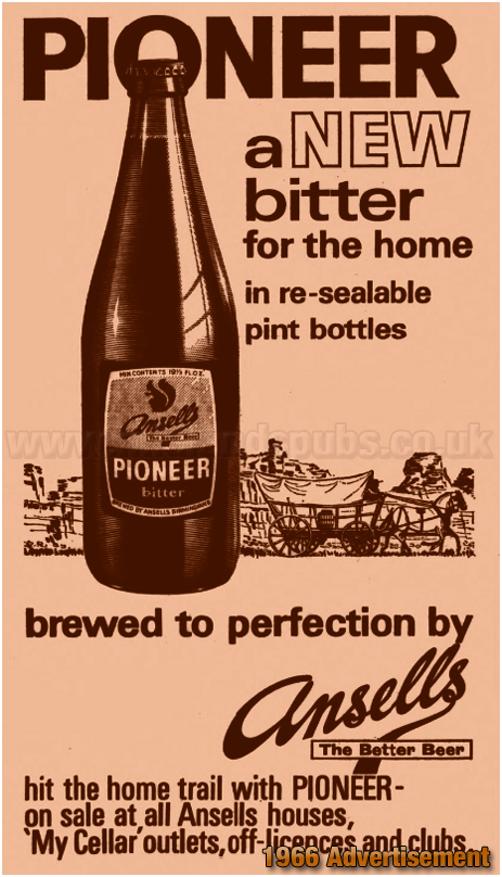 Newspaper advertisement for Ansell's Pioneer Bitter [1966]