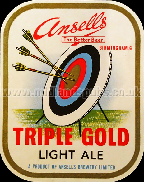 Ansell's Triple Gold Light Ale Beer Label [c.1950s]