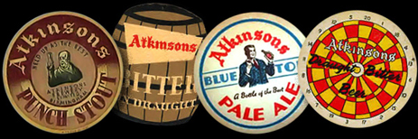 Beer Mats issued by Atkinson's Brewery of Aston