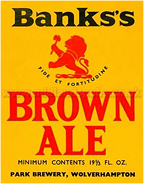 Banks's Brown Ale Beer Label