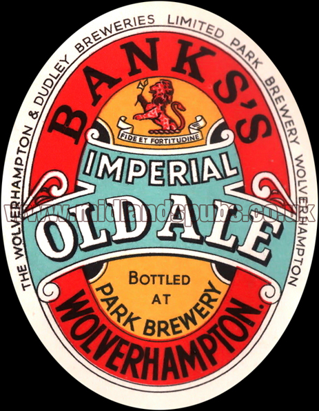 Banks's Imperial Old Ale Beer Label