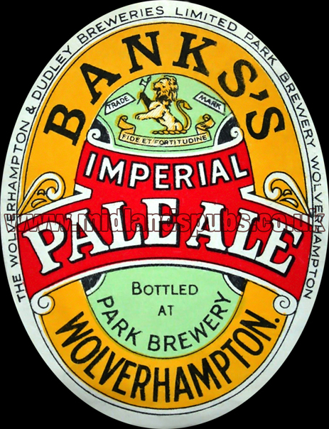 Banks's Imperial Pale Ale Beer Label