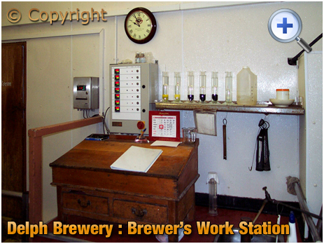 Brierley Hill : Brewer's Work Station at the Delph Brewery of Daniel Batham and Son Ltd. [2002]