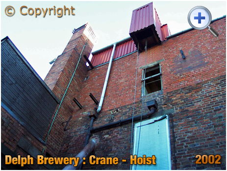 Brierley Hill : Crane-Hoist at the Delph Brewery of Daniel Batham and Son Ltd. [2002]