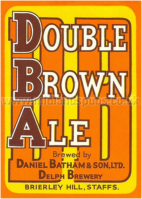Batham's Double Brown Ale Beer Label [1950s]