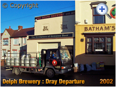 Brierley Hill : Dray Departure from the Delph Brewery of Daniel Batham and Son Ltd. [2002]
