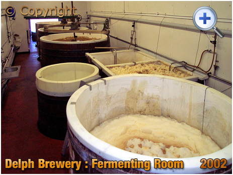 Brierley Hill : Fermenting Room at the Delph Brewery of Daniel Batham and Son Ltd. [2002]