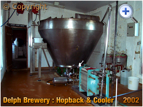 Brierley Hill : Hop Back and Cooler at the Delph Brewery of Daniel Batham and Son Ltd. [2002]