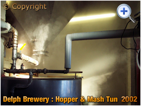 Brierley Hill : Hopper and Mash Tun at the Delph Brewery of Daniel Batham and Son Ltd. [2002]