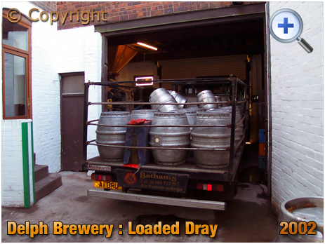 Brierley Hill : Loaded Dray at the Delph Brewery of Daniel Batham and Son Ltd. [2002]