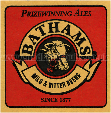 Batham's Mild and Bitter Beer Mat [1970s]